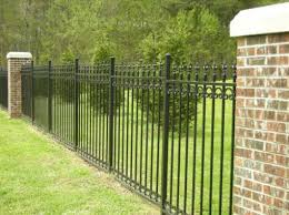 wrought iron fence brick. Even Better With Brick Posts....wrought Iron Fence...just Wrought Fence R
