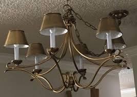 pottery barn armonk rustic chandelier pendant light dark bronze 6 arm decor