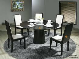 black and oak dining set round dining table black oak photo aston pair of black oak