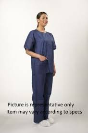 Shirts With Pants Dark Blue Disposable Shirts For Inmate Transport