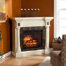w faux slate convertible infrared fireplace in ivory