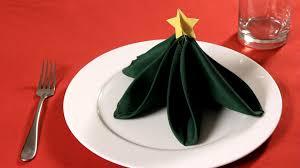 How to Fold a Napkin into a Christmas Tree | Napkin Folding - YouTube
