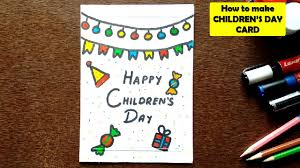 How To Make Children S Day Chart How To Make Childrens Day Card