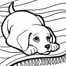 Cucciolo Di Cane Con Occhi Dolci Da Colorare Per Bambini Wallpapers