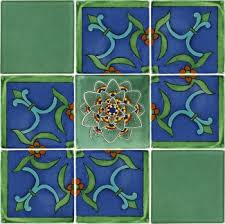 6X6 Decorative Ceramic Tile Set of 100 Mexican Talavera Ceramic Tiles 100x100 in 72