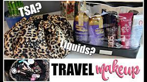 travel makeup toiletries what i packed tsa