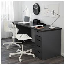 ikea alex linnmon table can be placed in the middle of a room because the