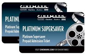 cinemark gift card 2 prepaid tickets 1 of 1