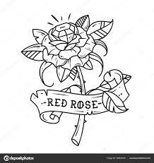 Tetování Rudou Růži S Modrý Drahokam Uvnitř Vášeň A Láska