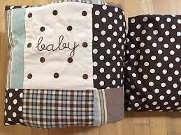 boy brown dots quilt fitted sheet