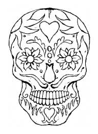 Adult Coloring Pages Skulls 2 Crafts Skull Throughout Day Of The