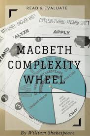 best ideas about shakespeare macbeth english complexity wheel for macbeth by william shakespeare based on bloom s taxonomy and depth of knowledge