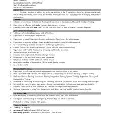Sample Resume For Software Engineer With 2 Years Experience Resume Format For 5 Years Experience In Testing Unique Sample Resume