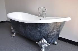 Jetted clawfoot tubs Bathtub Elegant Grey Jetted Clawfoot Tub With White Interior Color For Classic Bathroom Ideas With Black Trim Line Goghdesigncom Elegant Grey Jetted Clawfoot Tub With White Interior Color For