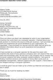 Image Result For Application Letter For Computer Operator