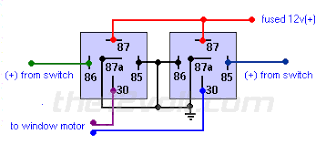relay wiring for two windows power window wiring kit at Power Window Relay Wiring Diagram