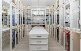 a luxury closet that has been organized