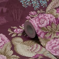 Purple Flower Wallpaper For Bedroom Purple Bedroom Wallpaper Diy