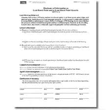 ohio lead based paint disclosure form lead based paint disclosure forms