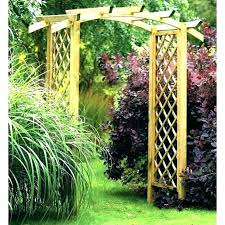 wooden archway for garden building arch arches the way arched simple diy trellis ideas supports