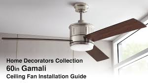 how to install the 60in gamali ceiling fan youtube