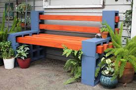 diy cinder block outdoor furniture. Contemporary Diy Colorful Paint Outdoor Benches And Fireplace Mantel Diy Cinder Block  Furniture Wreck 18 Inside B