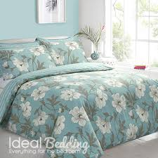 magnolia duck egg duvet quilt bedding cover and pillowcase bedding set