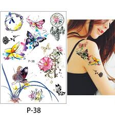 Glaryyears 12 листовнабор 1521 см временная татуировка наклейка