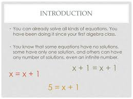 introduction you can already solve all kinds of equations