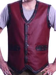 warriors vest leather