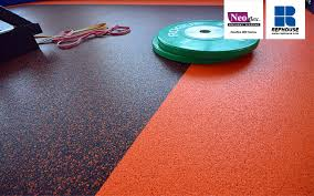 our commercial rubber flooring is durable enough to withstand the heavy use of high traffic areas