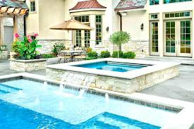 fashionable pool and hot tub combo a combo set up above ground pool and hot tub nicely done pools swimming swimming pool hot tub combo