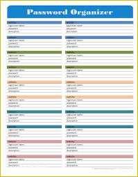 Free Excel Password Manager Template Of 8 Best Of Printable