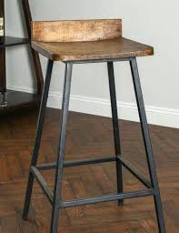 iron and wood bar stools square wooden seat bar stool high chair kitchen counter metal rustic industrial looks nice furniture in wrought backless wood and