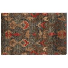 hand knotted ikat blue  red area rugs  zin home