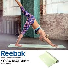 reebok yoga mat. reebok yoga mat double sided 4 mm 173 cm x 61 fitness pilates workout o