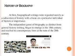 Biography Example Fascinating Literature NONFICTION PROSE