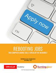 Computer Science Major Jobs Rebooting Jobs How Computer Science Skills Spread In The Job Market