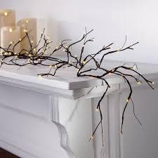 pre lit branch garland