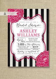 Black White And Hot Pink Wedding Invitations Wedding