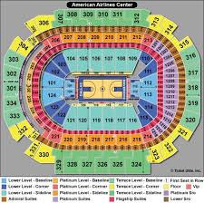 Aa Center Dallas Seating Chart American Airlines Arena Seating Chart Jlo