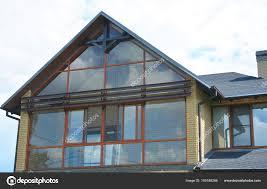 Attic Oberlicht Fensterwand Modernes Haus Mit Panorama Fenster