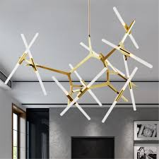 Mickey Mouse Chandelier Light Meigar 20 Heads Modern Glass Branch Chandelier Light Pendant