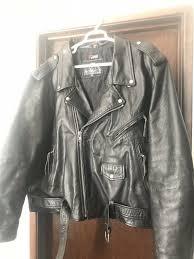mens 60 vtg 90s leather king motorcycle jacket jacket jacket 330fe2
