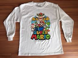 Super Mario Bros Game Graphic Long Sleeve T Shirt Boys Size