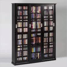 leslie dame ms 1050blk black mission style sliding glass door multimedia cabinet