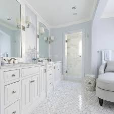 Innovation White And Gray Master Bathrooms Blue Bathroom With Chaise Lounge For Decor