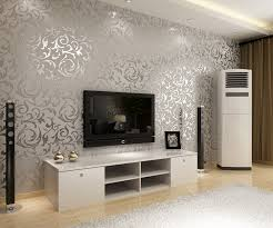Small Picture European style Golden silver simple European PVC wallpaper bedroom