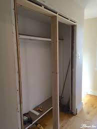 diy closet door makeover bi fold to hinged new doorway