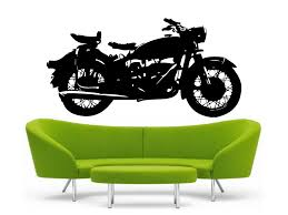 classic motorcycle vinyl wall decal bmw r69 harley davidson
